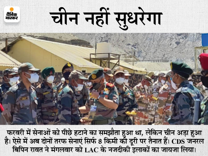 चीन पीछे हटने की बजाय युद्धाभ्यास कर रहा, इसलिए भारत ने यहां 2 लाख जवान तैनात किए; यह 1962 की जंग के बाद सबसे ज्यादा|दिल्ली + एनसीआर,Delhi + NCR - Dainik Bhaskar