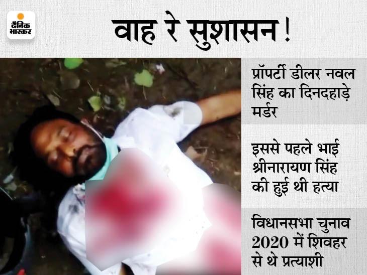 ओवरटेक कर बाइक रुकवाई, पहले 3 गोली मारी, संतुष्ट नहीं हुए तो मौत कंफर्म करने के लिए नजदीक से 5 गोलियां और दाग दी बिहार,Bihar - Dainik Bhaskar