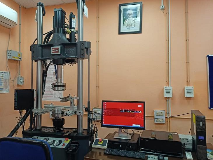 इस्पात मंत्रालय के सहयोग से बीएचयू आईआईटी के मेटलिर्जकल इंजीनियरिंग विभाग में बनाई गई लैब।