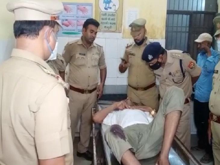 25 हजार के इनामी पशु तस्कर के पैर पर लगी गोली, एक पुलिसकर्मी भी घायल; बदमाश पर दर्ज हैं 12 से ज्यादा FIR|लखनऊ,Lucknow - Dainik Bhaskar