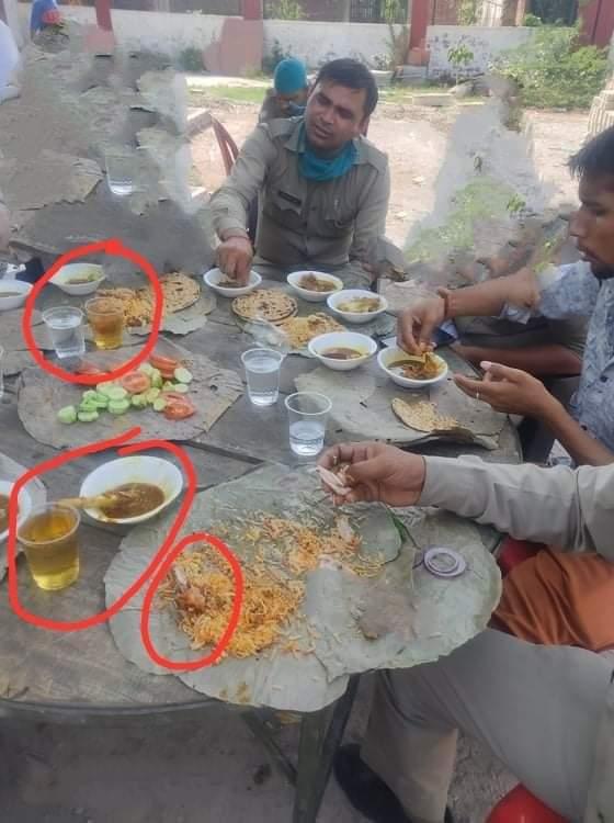 थाना प्रभारी रोजाना कर रहेओपन BAR पर कार्रवाई, सिपाहीताज के साये में खुलेआम उड़ा रहे मांस-मदिरा का दावत आगरा,Agra - Dainik Bhaskar
