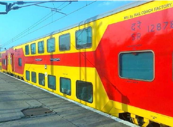 जयपुर-दिल्ली के बीच फिर चलेगी डबल डेकर; विशाखापटनम, हिसार, रेवाड़ी और खजुराहो के लिए चलेगी ट्रेने, लॉकडाउन के कारण बंद किया था संचालन|जयपुर,Jaipur - Dainik Bhaskar