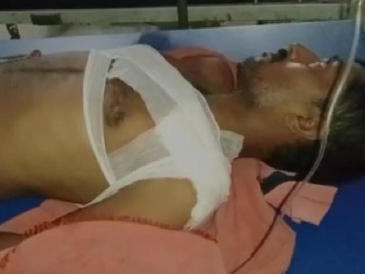 वैशाली में लूट का विरोध करने पर बदमाशों ने सीने में मारी गोली, बाइक लेकर फरार हुए अपराधी|बिहार,Bihar - Dainik Bhaskar