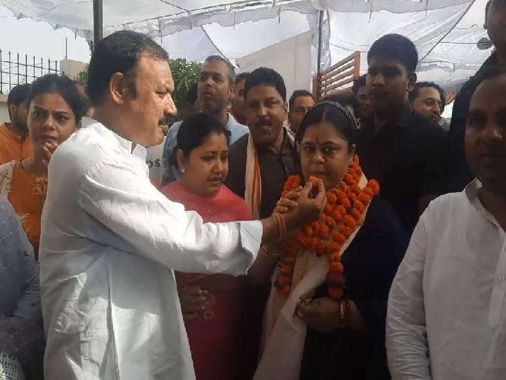 मैनपुरी में 30 साल बाद भाजपा प्रत्याशी ने जिला पंचायत अध्यक्ष पद पर हासिल की जीत। - Dainik Bhaskar