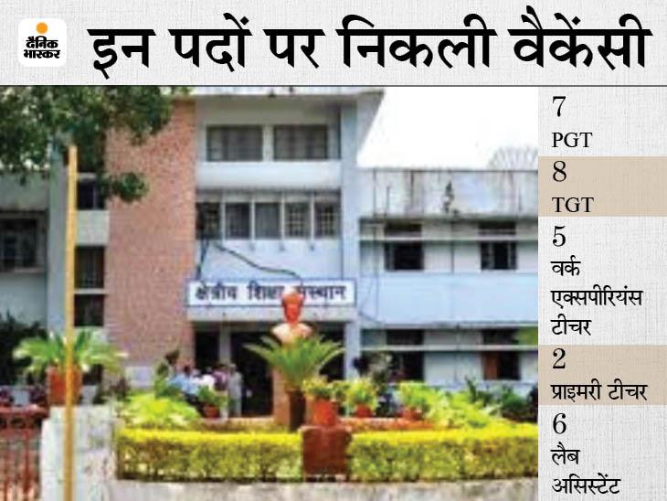 भोपाल के क्षेत्रीय शिक्षा संस्थान में भर्ती निकली है। - Dainik Bhaskar