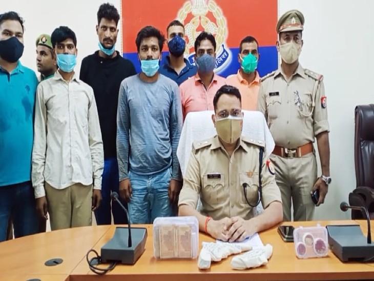 सर्राफा व्यापारी से लूट का पुलिस ने किया खुलासा, 3 शातिर लुटेरे गिरफ्तार; एक लाख रुपए सहित सोने के गहने बरामद|आगरा,Agra - Dainik Bhaskar