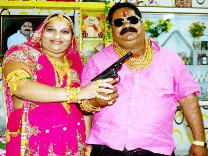 पत्नी गीता देवी के साथ गोल्डमैन कन्हैया।