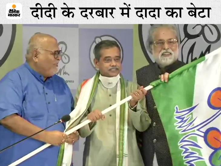 पूर्व राष्ट्रपति प्रणब मुखर्जी के बेटे अभिजीत मुखर्जी TMC में शामिल हुए, बहन शर्मिष्ठा बोलीं- ये दुखद है देश,National - Dainik Bhaskar