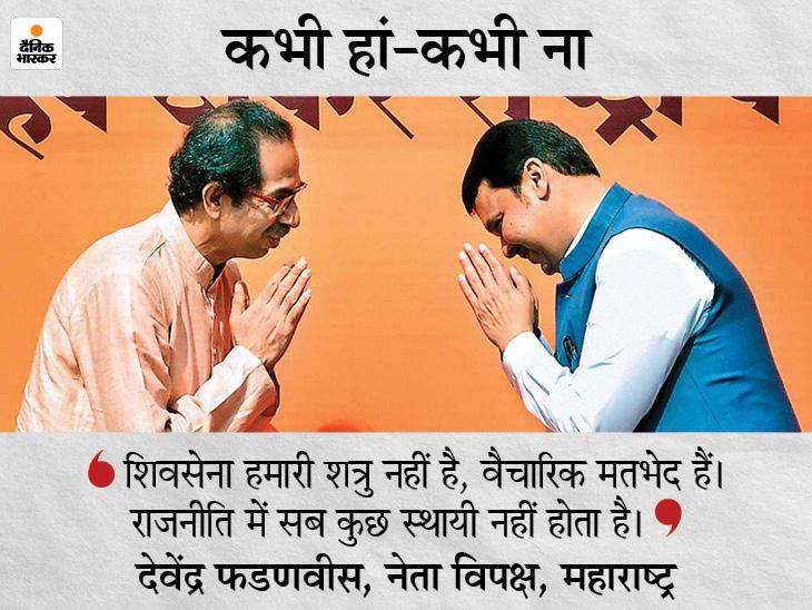 संजय राउत ने आमिर और किरण के रिश्ते जैसा बताया, कहा- हमारी राहें अलग, लेकिन दोस्ती कायम; फडणवीस ने कहा- हम कभी दुश्मन नहीं रहे|महाराष्ट्र,Maharashtra - Dainik Bhaskar