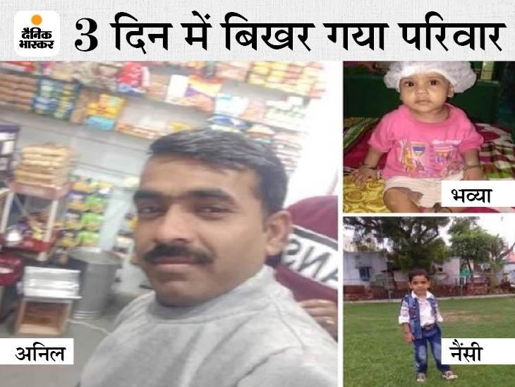 दूसरी बेटी को श्मशान ले जाते समय दिल्ली में भर्ती मां ने किया VIDEO कॉल; दोनों बेटियों से बात के लिए अड़ी; आंसू छिपाकर सास ने समझाया- सब ठीक है|ग्वालियर,Gwalior - Dainik Bhaskar