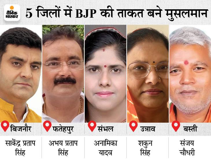 5 जिलों में 26 मुस्लिम जिला पंचायत सदस्यों ने बनवाए बीजेपी के जिला पंचायत अध्यक्ष, बोले- विकास के लिए इनको वोट दिया|लखनऊ,Lucknow - Dainik Bhaskar