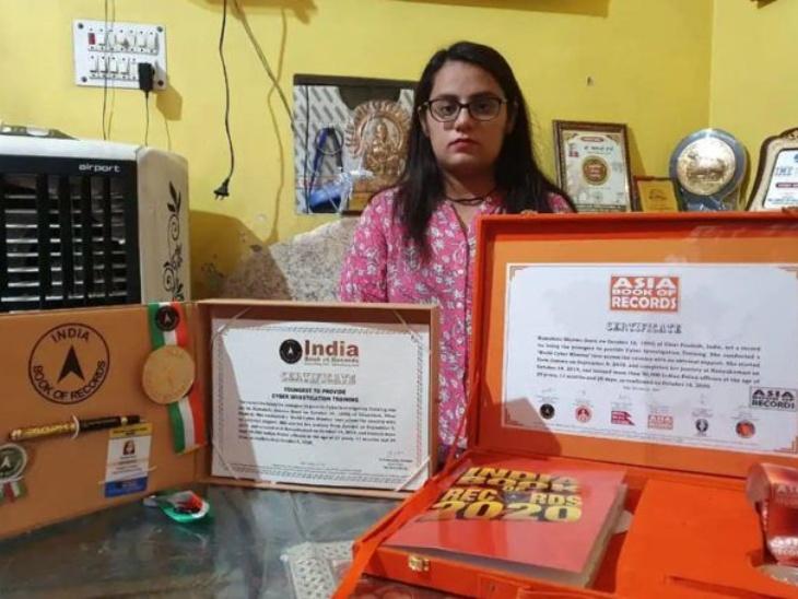 गाजियाबाद की कामाक्षी शर्मा साइबर क्राइम को मिटाने में जी-जान से जुटी, 50,000 पुलिसकर्मियों को ट्रेनिंग देकर वर्ल्ड बुक ऑफ रिकॉर्ड्स में दर्ज हुआ नाम|लाइफस्टाइल,Lifestyle - Dainik Bhaskar