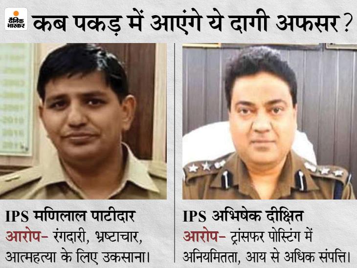 एक लाख के इनामी IPS मणिलाल पाटीदार और अभिषेक दीक्षित के पीछे लगी STF टीम, विजिलेंस भी कस रही शिकंजा लखनऊ,Lucknow - Dainik Bhaskar