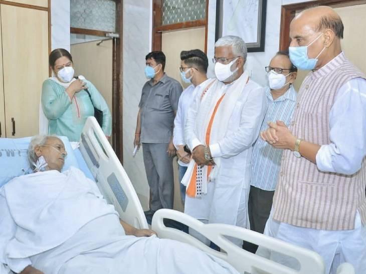 प्रधानमंत्री मोदी ने बेटे राजवीर को फोन कर जाना हालचाल, दूसरे दिन हार्ट बीट और ब्लड प्रेशर सामान्य|लखनऊ,Lucknow - Dainik Bhaskar