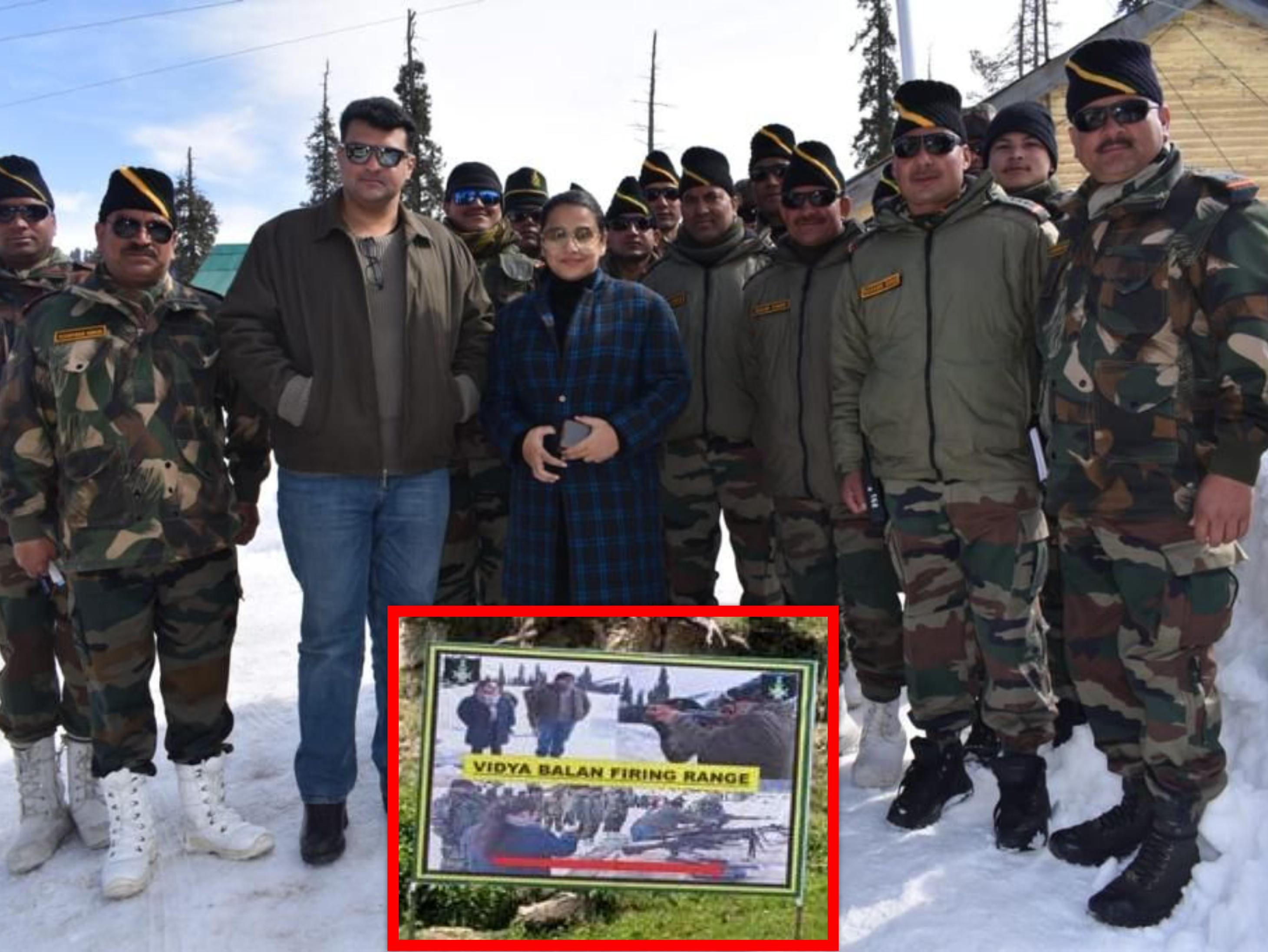 Indian Army pays tribute to lioness, military firing range built in Gulmarg Kashmir in the name of Vidya Balan   भारतीय सेना ने शेरनी को ट्रिब्यूट दिया, विद्या बालन के नाम पर गुलमर्ग कश्मीर में बनाया सैन्य फायरिंग रेंज