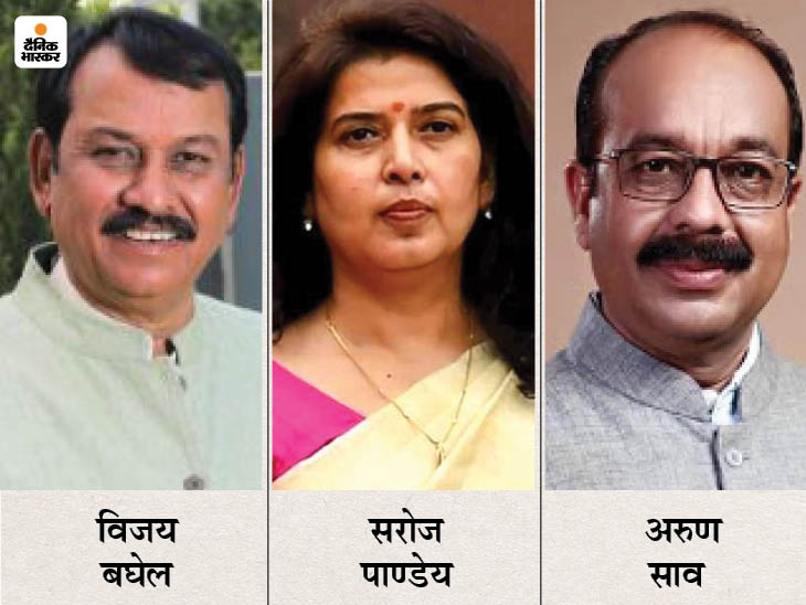 प्रदेश भाजपा ने बिलासपुर सांसद अरुण साव का नाम भेजा, विजय बघेल का भी नाम गया, सरोज पाण्डेय तो दिल्ली पहुंच गईं|रायपुर,Raipur - Dainik Bhaskar