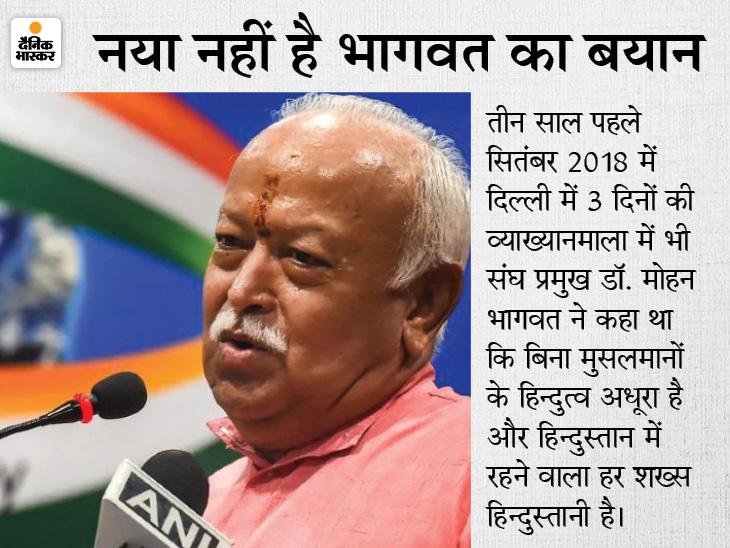 भागवत के बयान पर RSS के अंदर विरोध के स्वर, क्या गोलवलकर के जमाने में भी संगठन की यही सोच थी?|देश,National - Dainik Bhaskar