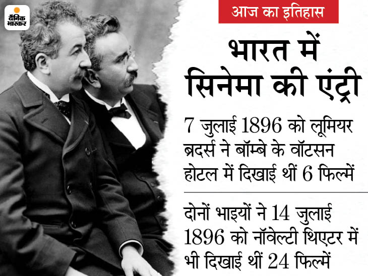 125 साल पहले हुई थी हिन्दुस्तान में सिनेमा की शुरुआत, लोगों ने एक रुपए में टिकट खरीदकर देखी थी पहली बार फिल्म|देश,National - Dainik Bhaskar