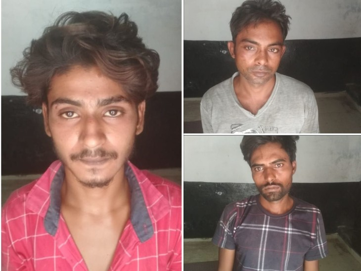 पुलिस ने तीनों आरोपियों तुषार , ऋषिपाल व बबलू को गिरफ्तार किया। तीनों हरियाणा के निवासी हैं। - Dainik Bhaskar