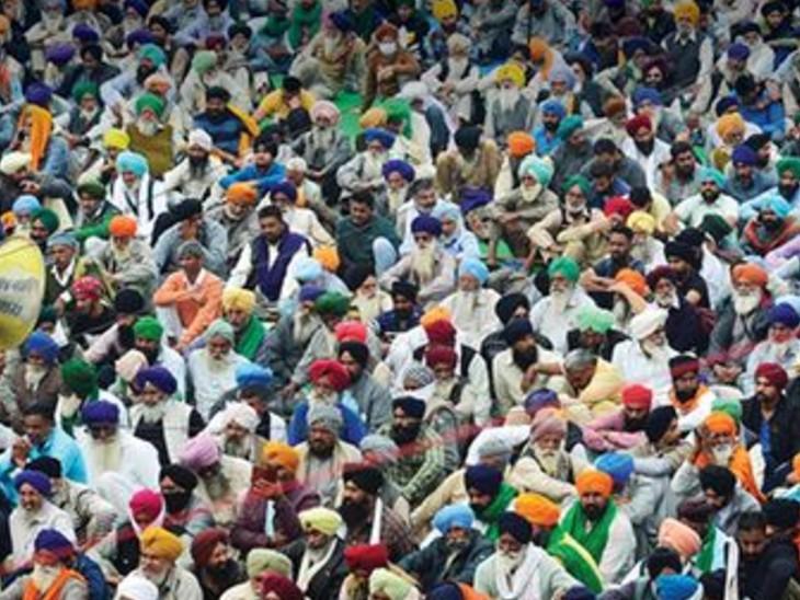 मैनाना और ठोठी के किसान 15 को जाएंगे शाहजहांपुर बॉर्डर|सिंघाना,Singhana - Dainik Bhaskar