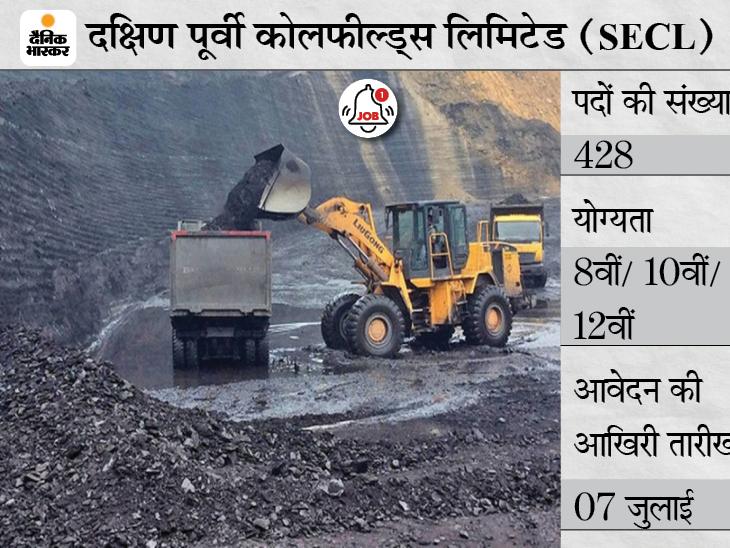 SECL में डम्पर ऑपरेटर समेत 428 पदों पर भर्ती के लिए अप्लाई, आवेदन की आखिरी तारीख कल|करिअर,Career - Dainik Bhaskar