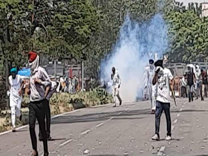 कैप्टन का सरकारी आवास घेरने जा रहे थे टीचर्स; पुलिस ने घुसने नहीं दिया, वाटर कैनन और टियर गैस से खदेड़ा|चंडीगढ़,Chandigarh - Dainik Bhaskar