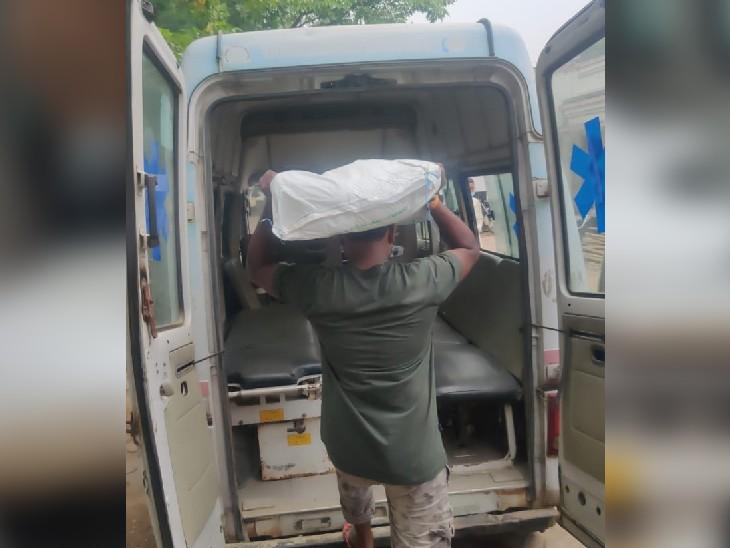 इलाज के लिए तड़प रहे मरीज, एंबुलेंस से ढोया जा रहा चूना; माल ढुलाई से काली कमाई कर रहे स्वास्थ्य विभाग के अफसर|बिहार,Bihar - Dainik Bhaskar