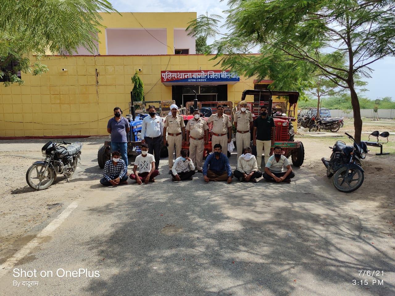 वारदात में इस्तेमाल किए गए तीन ट्रैक्टर और दो मोटरसाइकिल भी बरामद, आरोपियों के खिलाफ पहले कभी भी कोई आपराधिक मामला दर्ज नहीं राजस्थान,Rajasthan - Dainik Bhaskar