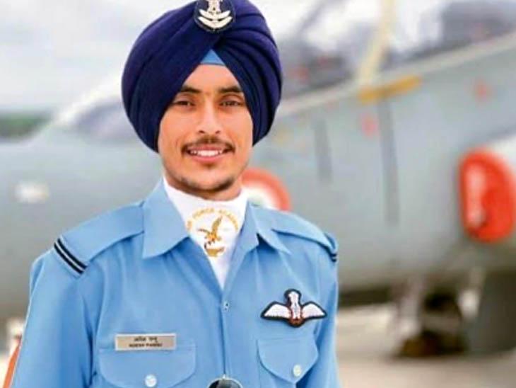 इंडियन एयरफोर्स में फ्लाइंग ऑफिसर चुने गए तरनतारन के आदेश प्रकाश सिंह पन्नू। - Dainik Bhaskar