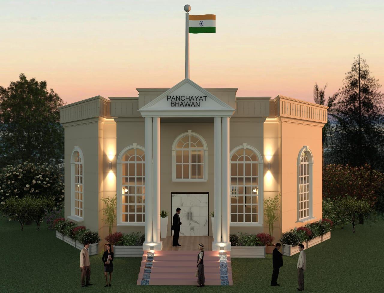 सेंट्रल विस्टा जैसा बने पंचायत भवन, प्रशासन तय डिजाइन पर ही काम कराने पर अड़ा|होशंगाबाद,Hoshangabad - Dainik Bhaskar