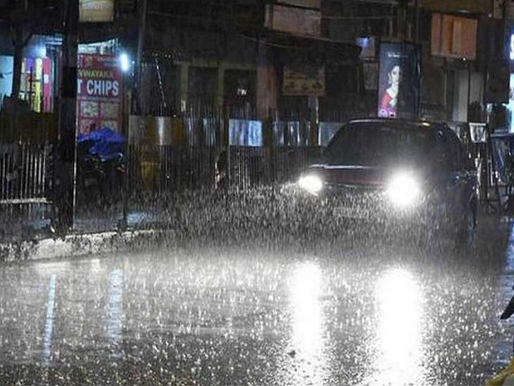पूरे प्रदेश पर छाए घने बादल, रायपुर-बिलासपुर समेत 20 जिलों में गरज-चमक के साथ बारिश; रात 11 बजे तक की चेतावनी|रायपुर,Raipur - Dainik Bhaskar