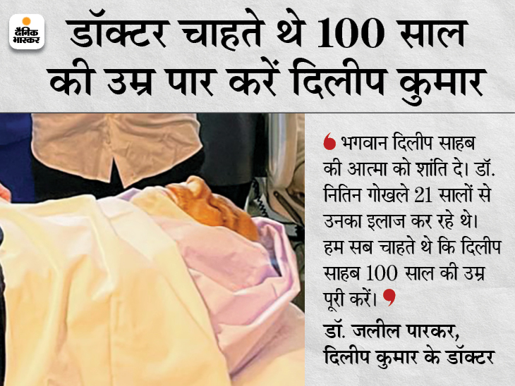 पार्थिव शरीर हॉस्पिटल से पाली हिल स्थित बंगले पर लाया गया, शाम 5 बजे जुहू में किया जाएगा सुपुर्द-ए-खाक देश,National - Dainik Bhaskar