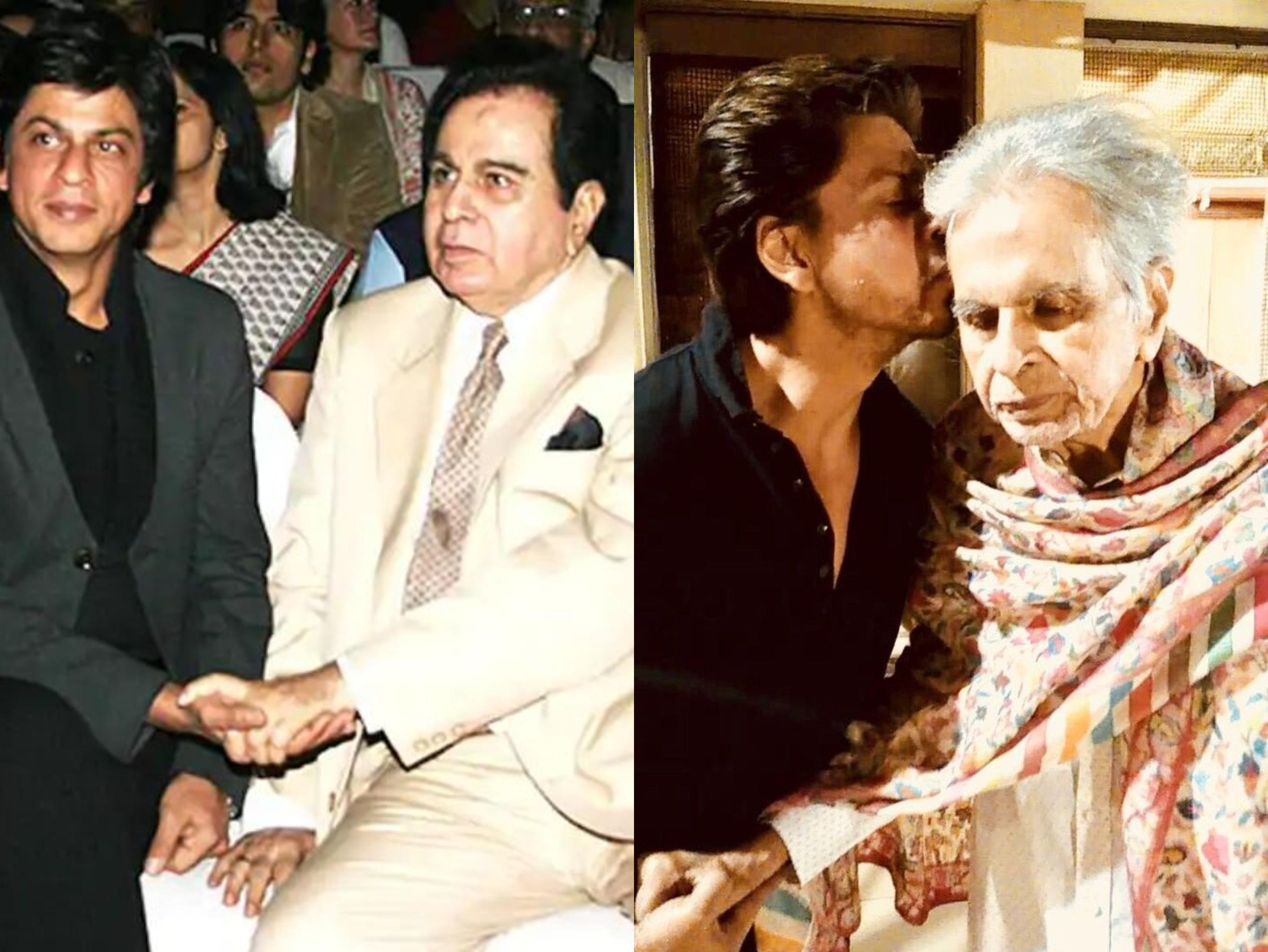 दिलीप-शाहरुख की पहली मुलाकात 'दिल आशना है' फिल्म के मुहूर्त पर हुई थी। सायरा बानो मानती हैं कि शाहरुख और दिलीप कुमार कई मायनों में एक जैसे हैं। - Dainik Bhaskar