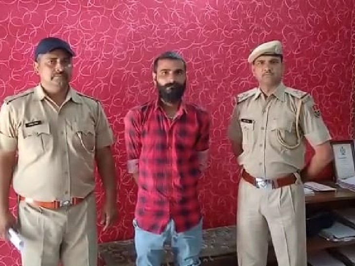 2013 में एक व्यक्ति की लाठी-डंडों से पीट-पीट कर की थी हत्या, तभी से था फरार, पुलिस ने नाकाबंदी कर पकड़ा|भरतपुर,Bharatpur - Dainik Bhaskar