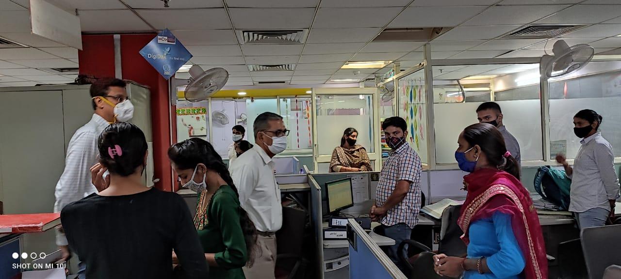 निगमायुक्त ने किया नगर निगम की विभिन्न ब्रांचों का निरीक्षण गुड़गांव,Gurgaon - Dainik Bhaskar