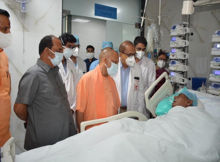 पीजीआई में भर्ती पूर्व सीएम कल्याण सिंह की तबियत में सुधार,बोले निदेशक प्रो.धीमन - पहले से है बेहतर स्थिति|लखनऊ,Lucknow - Dainik Bhaskar