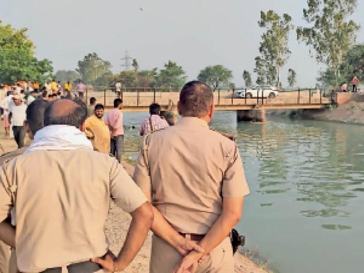 जटपुरा गांव के पास भाखड़ा नहर में नहा रहे दो सगे भाइयों की डूबकर मौत, छोटे को बचाने में बड़ा तेज बहाव में फंसा|करनाल,Karnal - Dainik Bhaskar