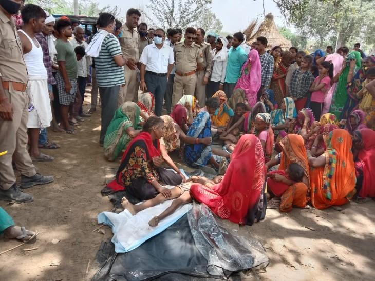 बच्चों की मौत से गांव में मातम का माहौल।