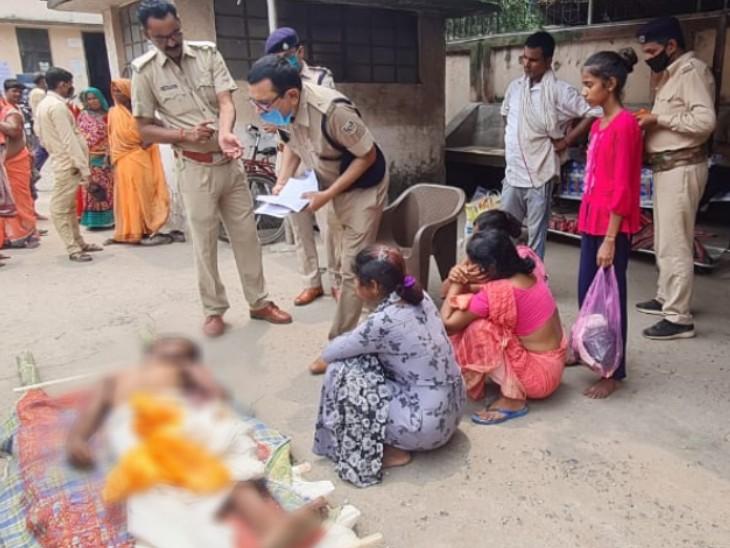 शव को कब्जे में करने श्मसान पहुंचे पुलिस अधिकारी - Dainik Bhaskar