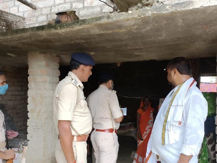 मौके पर पहुंची पुलिस। - Dainik Bhaskar