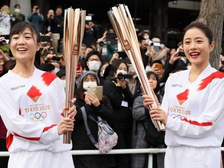 मार्च में शुरू हुए टॉर्च रिले का जापान के कई शहरों में विरोध हुआ है। - Dainik Bhaskar