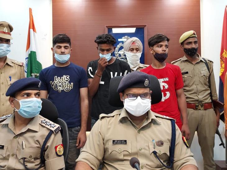मुरादाबाद में हाईवे पर 4 जुलाई को पशु व्यापारी से हुई लूट की घटना का माइस्टमाइंड उसका भाई ही निकला। पुलिस ने उसे गिरफ्तार कर घटना का खुलासा कर दिया है। - Dainik Bhaskar