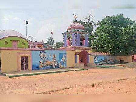 अभी तक नहीं हुआ मंदिर का रंग-रोगन। - Dainik Bhaskar