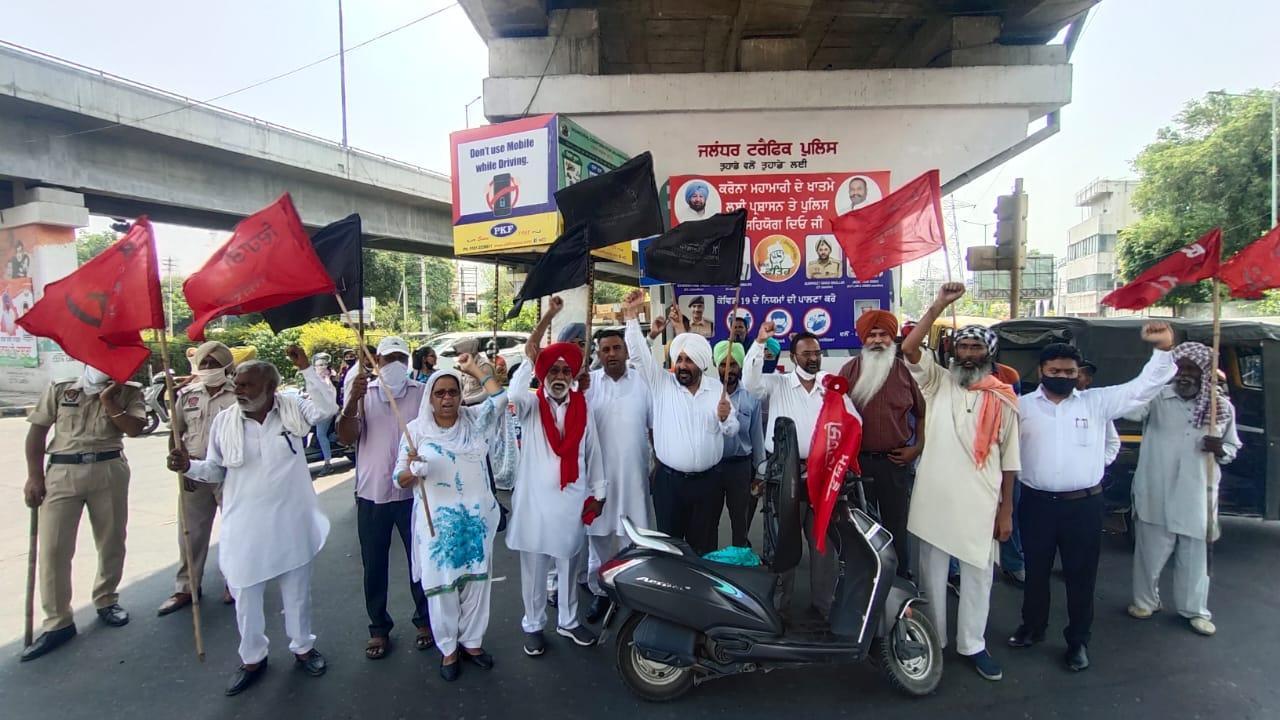 ट्रैक्टर फॉर सेल, मोदी भक्तों को फ्री गैस सिलेंडर जैसे पोस्टर लगा जताया पेट्रोल-डीजल व रसोई गैस के बढ़ती कीमतों का विरोध, निर्विघ्न चला ट्रैफिक, हॉर्न भी बजाया जालंधर,Jalandhar - Dainik Bhaskar