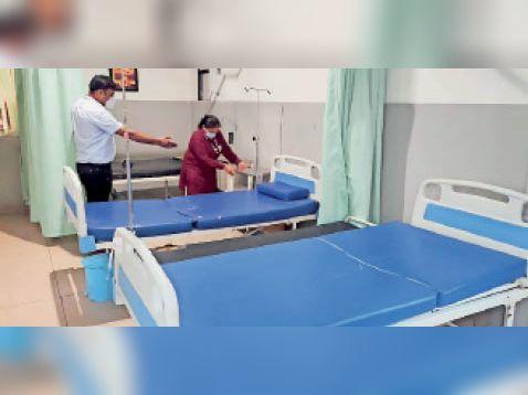 विराट अस्पताल का वार्ड अब खाली, इसमें कोरोना के मरीज भर्ती थे। - Dainik Bhaskar