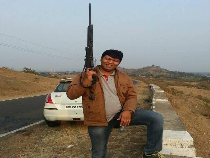 तीन साल तक पुलिस के रिकॉर्ड में फरार धूमा से बीजेपी  जनपद सदस्य आरोपी राहुल शिवहरे। - Dainik Bhaskar