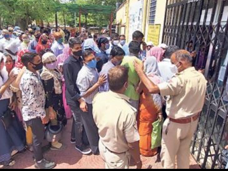 सरकारी सेंटरों में टीका नहीं, निजी में 10 दिन में 1.1 लाख डोज लगी|जयपुर,Jaipur - Dainik Bhaskar