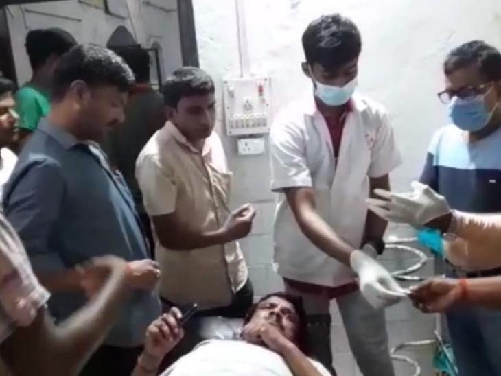 गंभीर रूप से घायल होने पर अस्पताल में भर्ती, 60 हजार लेकर बदमाश फरार, पिछले 48 घंटे में लूट की तीसरी घटना|बिहार,Bihar - Dainik Bhaskar