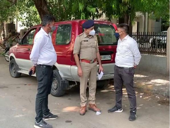 करणसिंहजी रोड की घटना, स्थल पर क्राइम ब्रांच-एसओजी पहुंची। - Dainik Bhaskar
