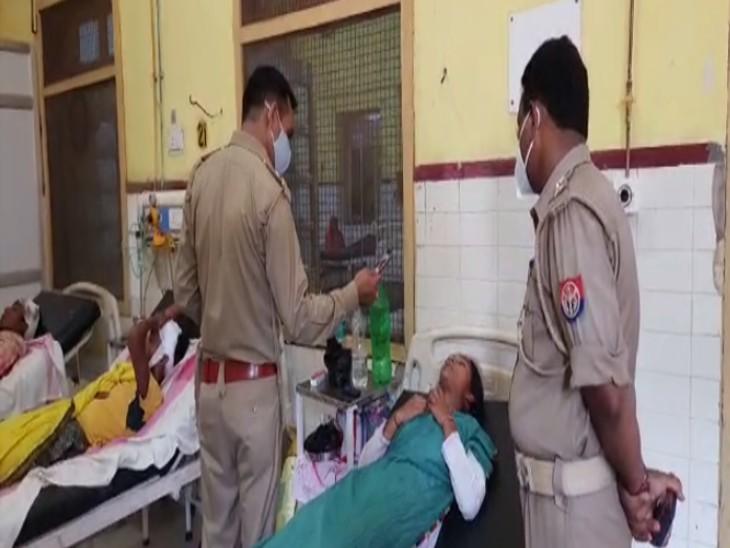 पुराने विवाद के चलते दबंगों ने युवक पर किया हमला; बेटे को बचाने आए मां-बाप को फावड़े और लाठी-डंडो से पीटा, पुलिस ने अस्पताल में भर्ती कराया|लखनऊ,Lucknow - Dainik Bhaskar